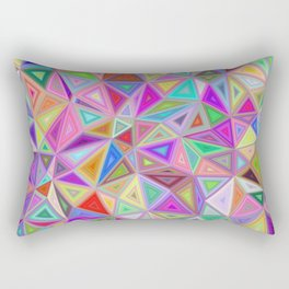 Triangular happiness Rectangular Pillow