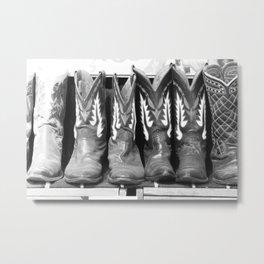BOOTS Metal Print