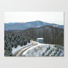 Road to the Christmas Tree Farm Canvas Print