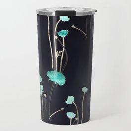 HOPE: Light Blue Flower Pattern Travel Mug