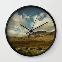 irish Wall Clocks featuring Irish Skies by Sharon Johnstone