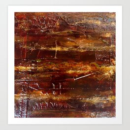 Abstract Wood Art Print