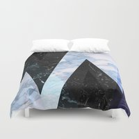 frozen Duvet Covers featuring Marble stone ( frozen ) by Marta Olga Klara