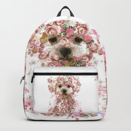 Vintage doggy Bichon frise.DISCOVER Backpack
