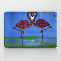 flamingos iPad Cases featuring Flamingos by Ben Geiger