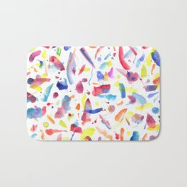 Abstract Painterly Brushstrokes Bath Mat