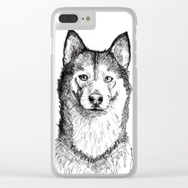 Husky is Your Friend Clear iPhone Case
