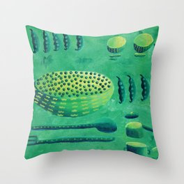 Peas with Bowls Throw Pillow