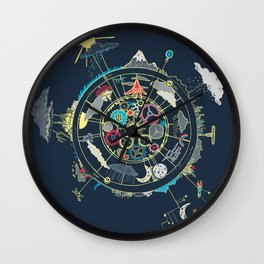 Running Like Clockworld Wall Clock