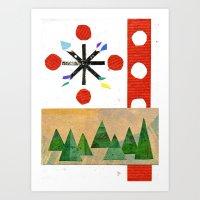Christmas Snowflake  Art Print