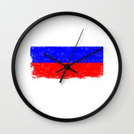 RUSSIA FLAG Retro Vintage Gift For Russian Flag Wall Clock