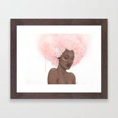 Pink Fro Framed Art Print