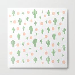 Cactus Pattern - tight Metal Print