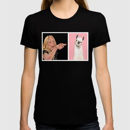Woman Yelling at Llama T-shirt