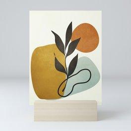 Soft Abstract Small Leaf Mini Art Print