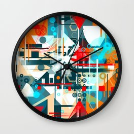 Daisies in the night Wall Clock