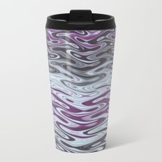 Ripples Fractal in Muted Plums Metal Travel Mug