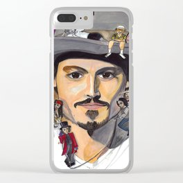 Johnny Depp Clear iPhone Case