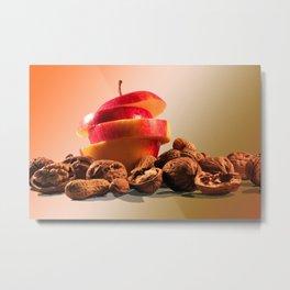 Apple and nuts Metal Print