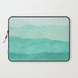Ombre Waves in Teal Laptop Sleeve