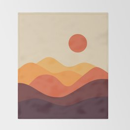 Geometric Landscape 21 Throw Blanket