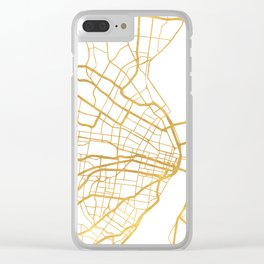 ST. LOUIS MISSOURI CITY STREET MAP ART Clear iPhone Case