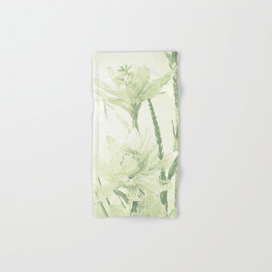 Glass flowers Hand & Bath Towel