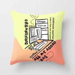 Organizing - Zine Page Throw Pillow