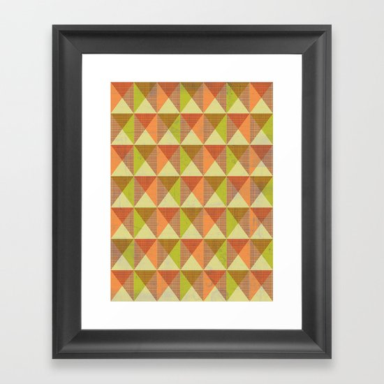 Triangle Diamond Grid Framed Art Print