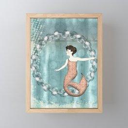 Mermaid Wreath Framed Mini Art Print