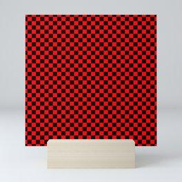 schwarz rot kariert Mini Art Print