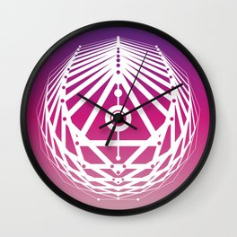 Radiant Abundance (warm purple-white) Wall Clock