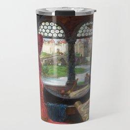 "John William Waterhouse - ""I am half sick of shadows"" said the Lady of Shalott Travel Mug"