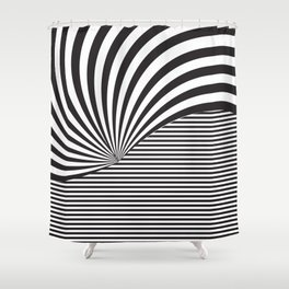 Optical Game 8 Shower Curtain