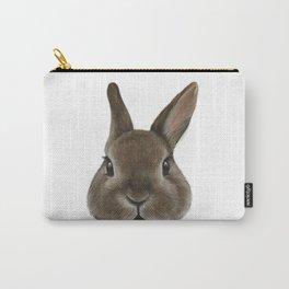 Netherland Dwarf rabbit illustration original painting print Carry-All Pouch
