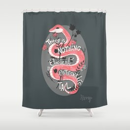 There is nothing as eloquent as a rattlesnake's tail, inspirational quote Shower Curtain