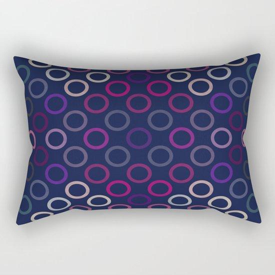 Colorful Circles VIII Rectangular Pillow