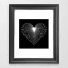 STRAIGHT FROM THE HEART Framed Art Print