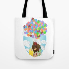Carl's House (Up) Isometric Poster Tote Bag