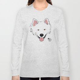 American Eskimo Face Long Sleeve T-shirt