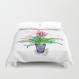 Bromeliad flower pot Duvet Cover