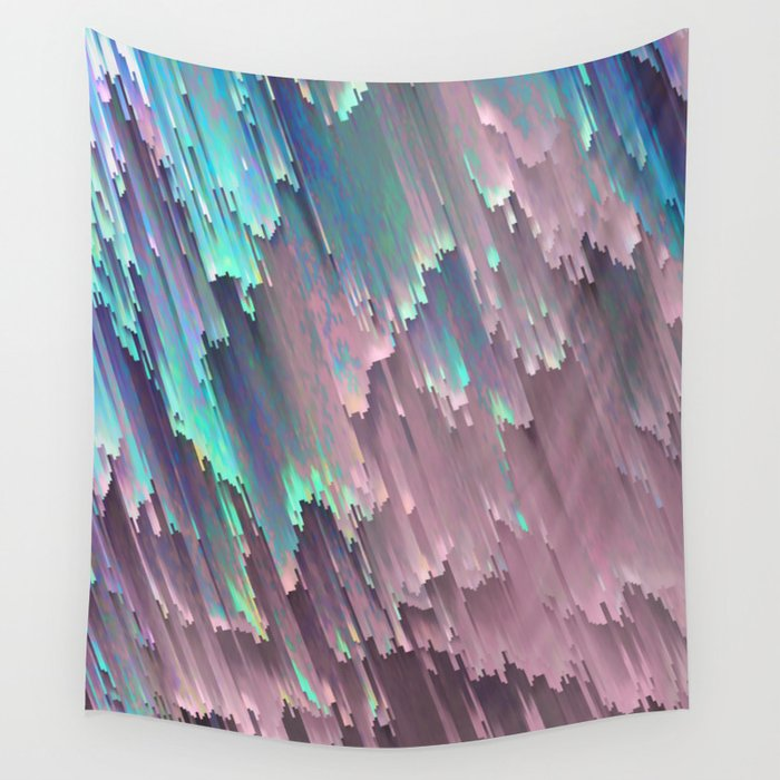 Iridescent Shadows Glitches Wall Tapestry