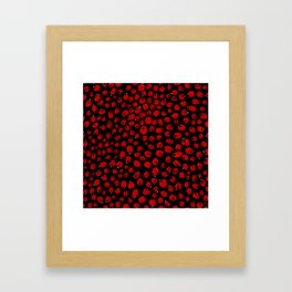 Ladybugs (Red on Black Variant) Framed Art Print