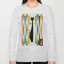 Mid-Century Modern Art Cat 2 Long Sleeve T-shirt
