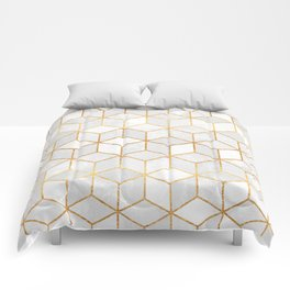 White Cubes Comforters