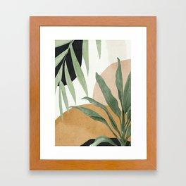Abstract Art Tropical Leaves 4 Framed Art Print