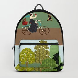 Lady in the forest Backpack