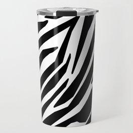 Zebra Black and White Pattern Travel Mug