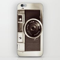 vintage camera iPhone & iPod Skins featuring Camera by Tuky Waingan
