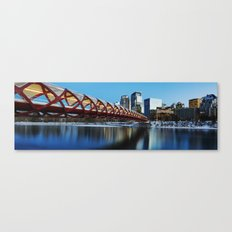 Peace Bridge Calgary Canvas Print